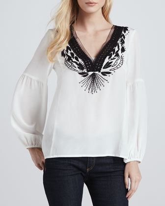 Moonlight Embroidered Top
