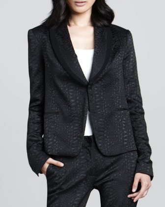 Ofelia Jacquard One-Button Jacket