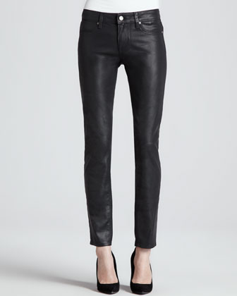 Verdugo Ultra-Skinny Coated Jeans, Aged Black