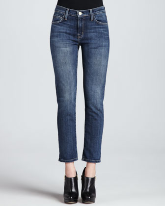 The Fling Loved Faded Cropped Jeans