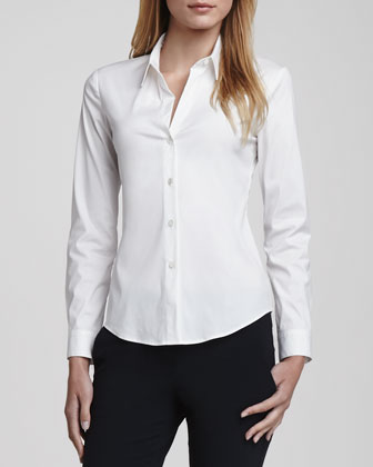 Larissa Button-Front Blouse