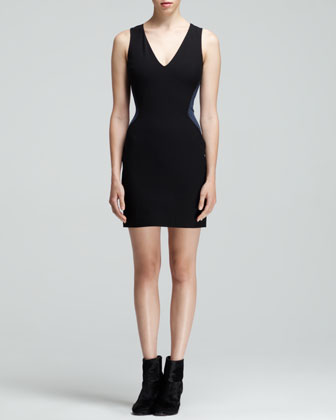 Cara Two-Tone Illusion Dress