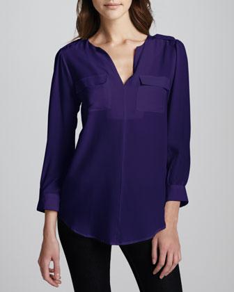 Marlo Sleeveless Silk Top
