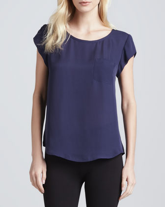 Rancher Short-Sleeve Pocket Blouse