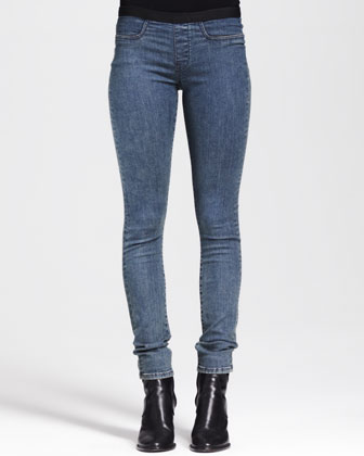 Medium Blue Denim Leggings