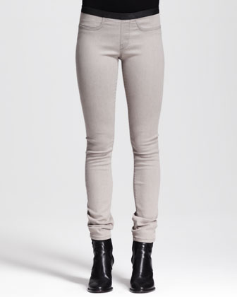 Villous Sweatshirt Zip Jacket, Nova Cowl-Neck Top & Gravel Denim Leggings