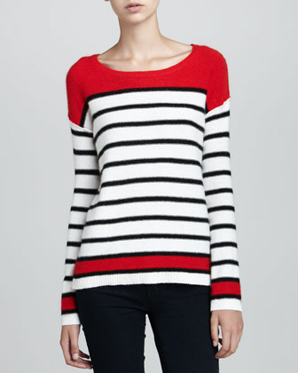 Pop Stripe Pullover Sweater