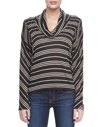 Stockholm Striped Cowl Top