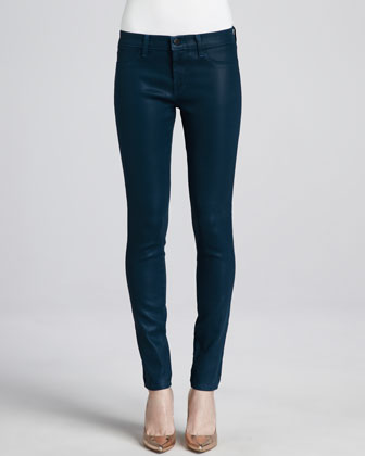 Low-Rise Coated Jeans