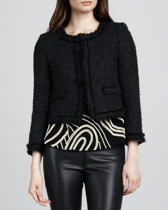 Kidman Tweed Fringe Jacket
