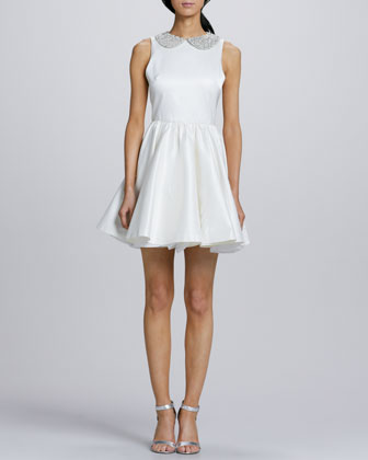 Lollie Crystal-Collar Party Dress
