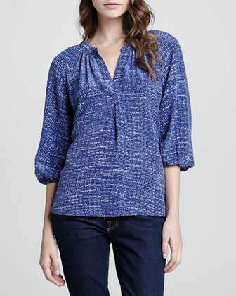 Addie B Printed Blouse
