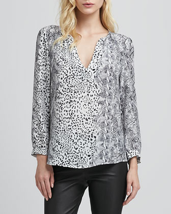 Pearline Mix-Print Top