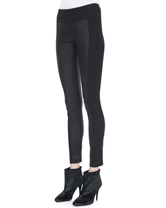 Glasgow Paneled Leather Leggings
