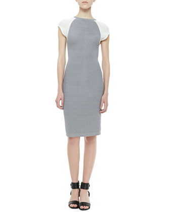 Fitted Techno Honeycomb Dress