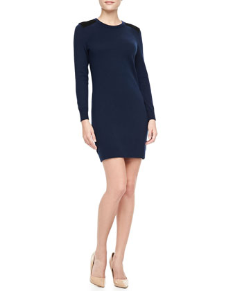 Maribel Wool Shift Dress