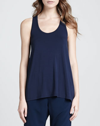 Loose Arched-Hem Tank, Coastal