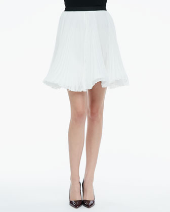 Shea Pleated Chiffon Skirt