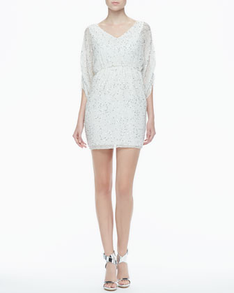 Olympia Sequined Silk Dress