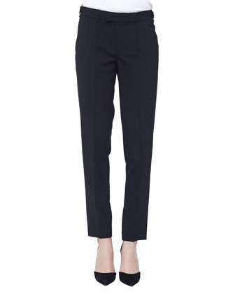 Tab-Side Cropped Trousers