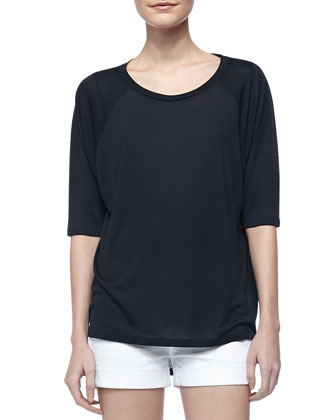 Scoop-Neck Raglan Sleeve Tee