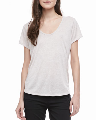 Short-Sleeve Scoop Neck Tee