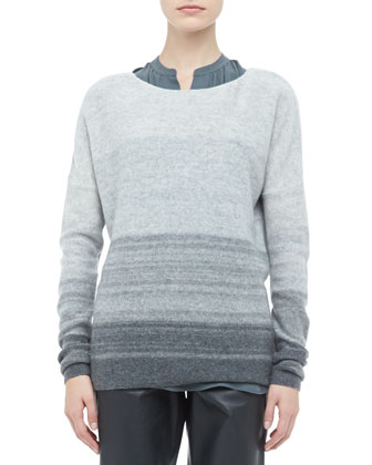 Degrade Cashmere Long-Sleeve Sweater