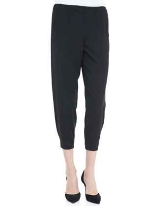 Wrap-Seam Cropped Pants