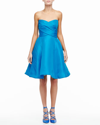 Strapless Sweetheart Cocktail Dress with Bow