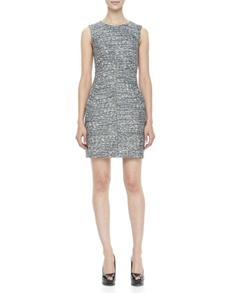 Capreena Sleeveless Tweed Mini Dress