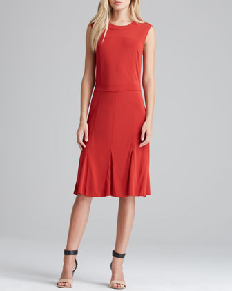 Deeann Fluted-Hem Dress