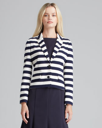 Augusta Striped Knit Blazer