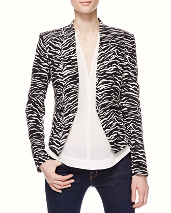 Tiger-Stripe Fitted Blazer