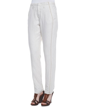 Portobello Separating-Seam Trousers, Natural