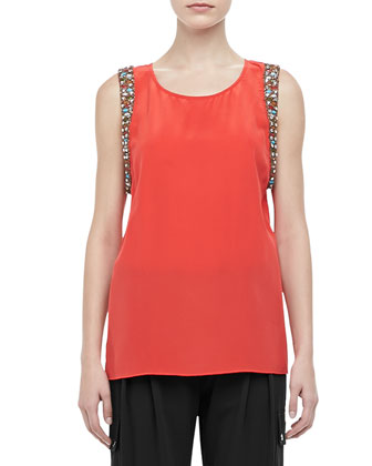 Allure Jewel-Trim Muscle Tee
