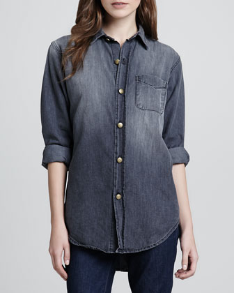 Prep School Faded Denim Shirt