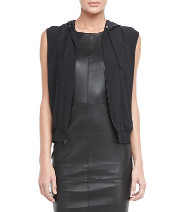 Suzie Hooded Jersey Vest