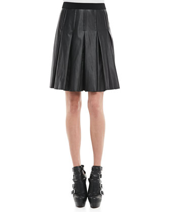 Catrin Faux-Leather Skirt