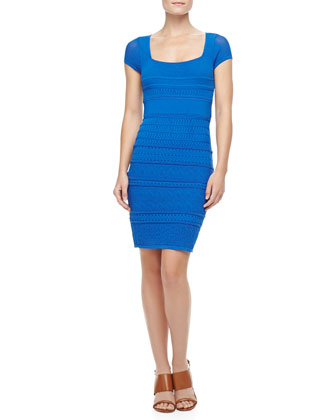 Cheryl Pointelle Shift Dress