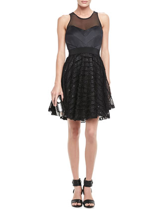 Lace-Skirt Party Dress