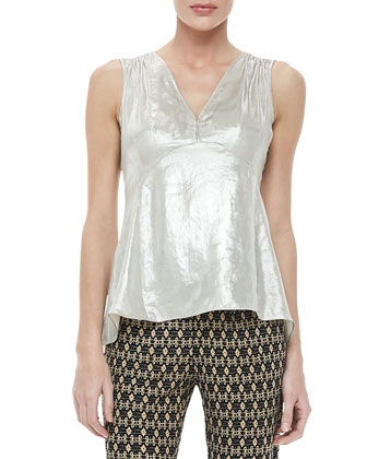 Whistle Metallic Top, Gold