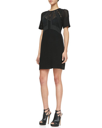 Nomad Lace-Overlay Dress, Black