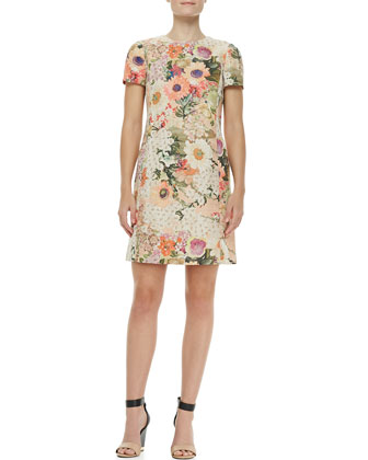 Kaley Floral Tweed Dress