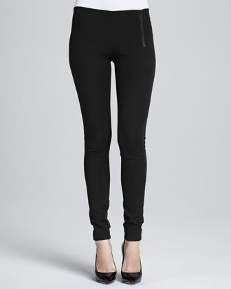 Redell Side-Zip Skinny Pants