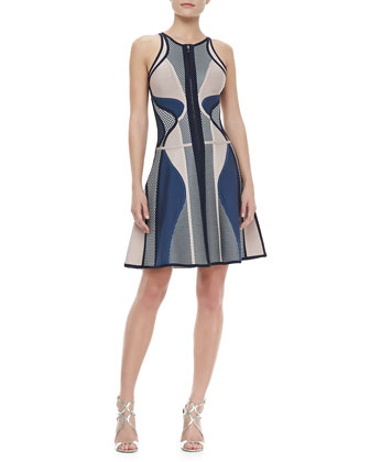 Netted Printed Bandage Dress