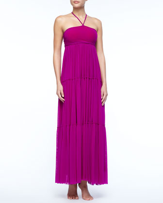 Tiered Jersey Maxi Dress