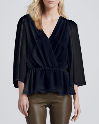 Greer Bell-Sleeve Blouse