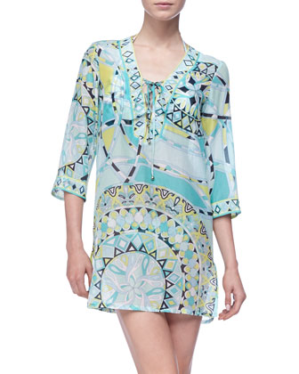 Capri Short Caftan Coverup