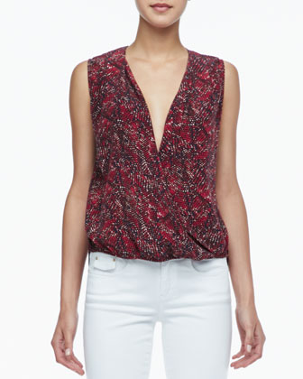 Kiara Printed High-Low Blouse