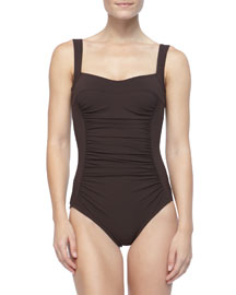 Ruch-Front Underwire One-Piece, Chocolate